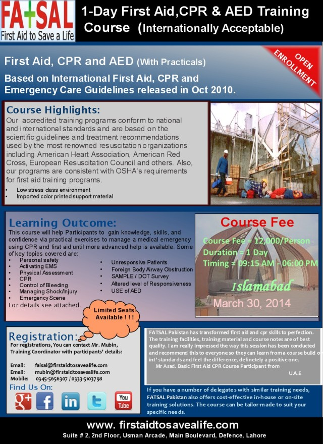 International Training Certification In First Aid Cpr Aed Your