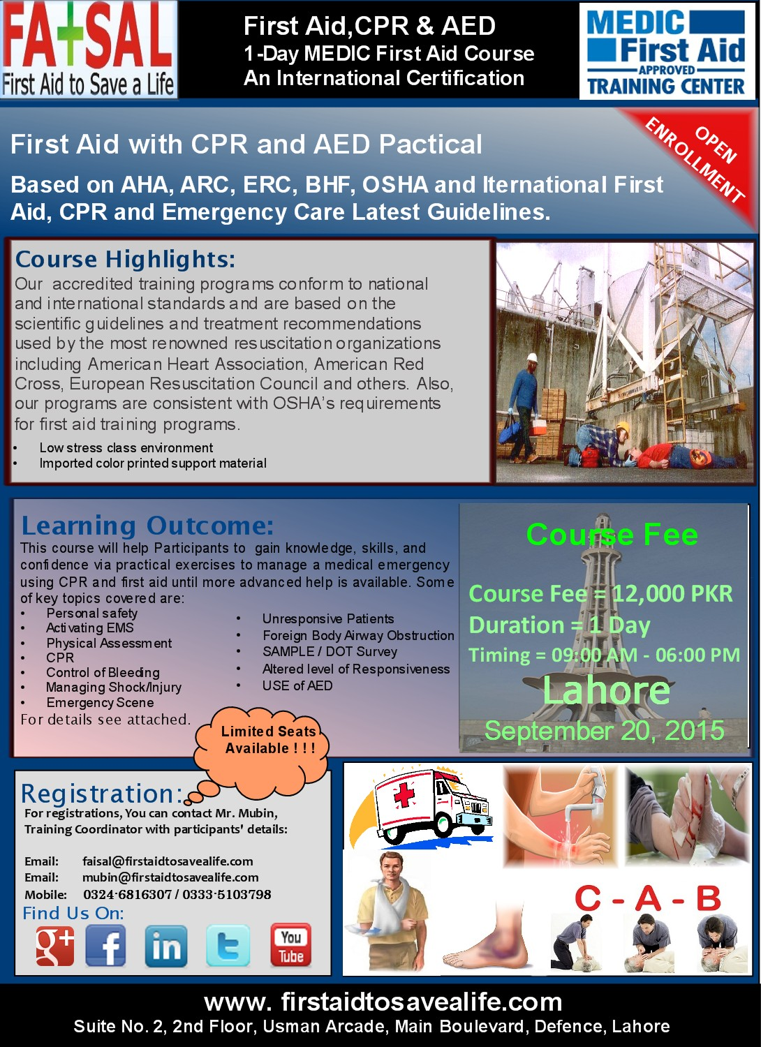 International First Aid Cpr Aed Training In Lahore Your First