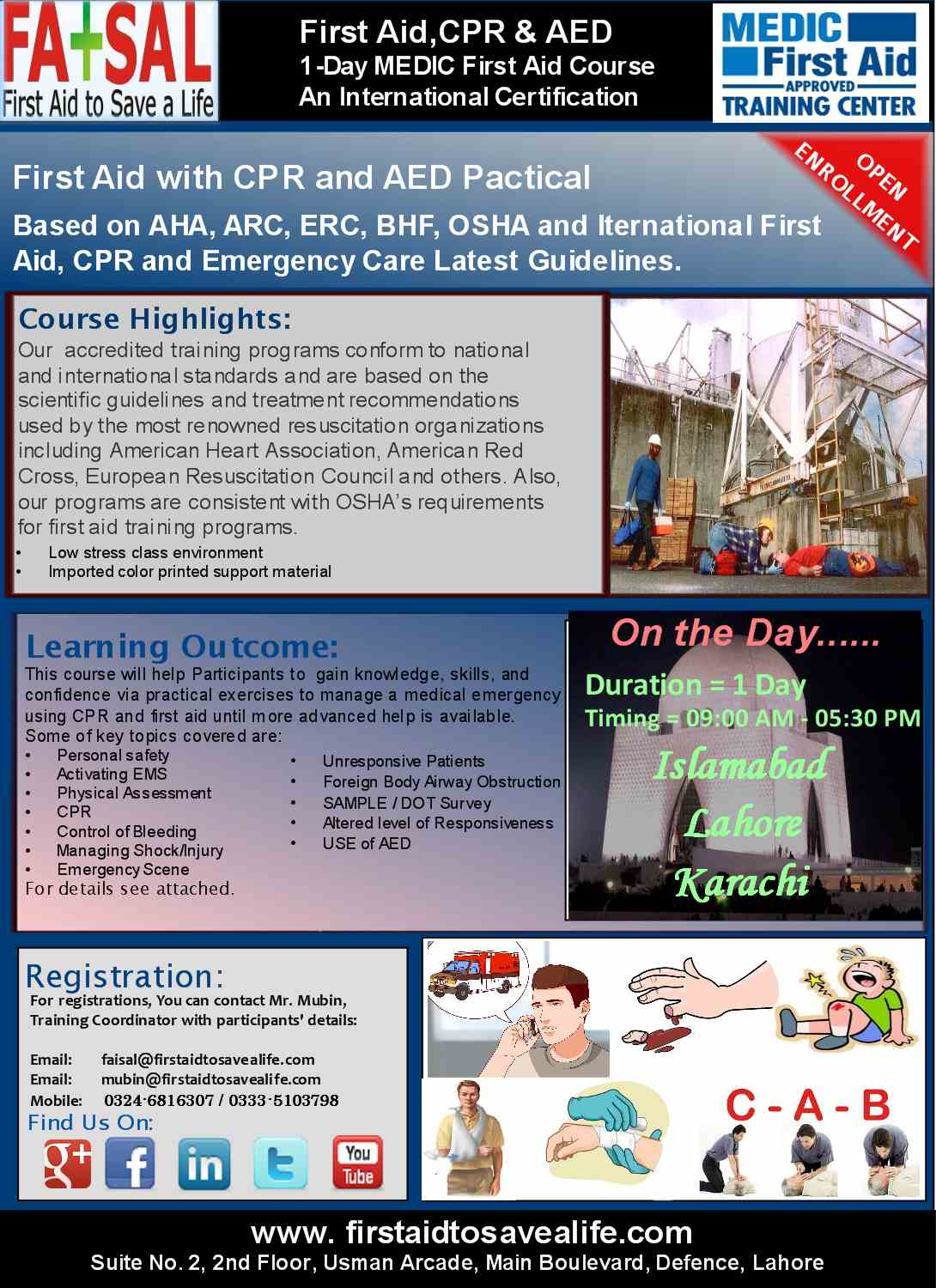Your first choice for first aid cpr aed emergency management course flyer xflitez Image collections