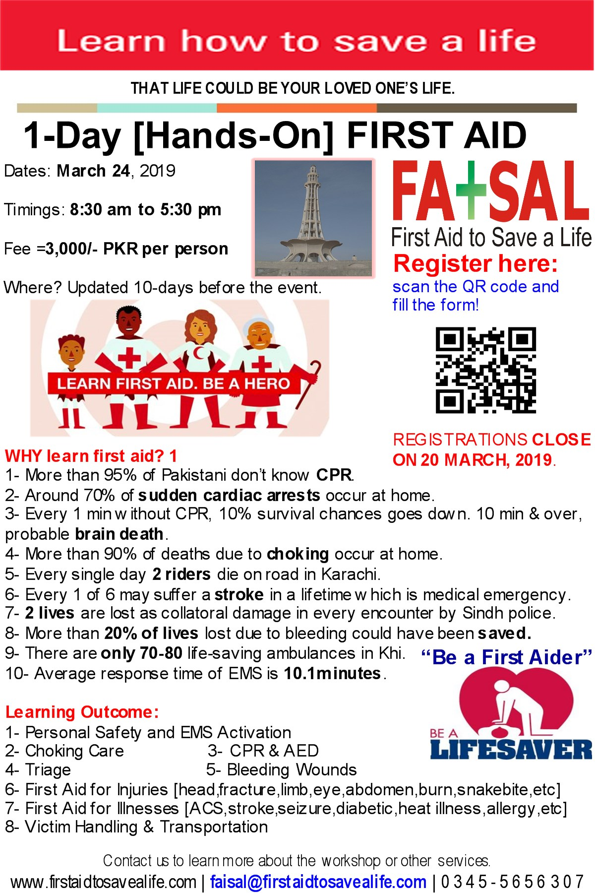 2 Days First Aid With Cpr Aed Karachi April 8 9 Your First